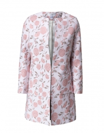 Alice Pale Pink and Beige Lurex Floral Jacquard Jacket