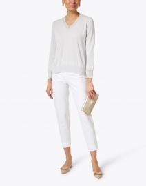 Fabiana Filippi - Cloud Grey Embellished Sweater