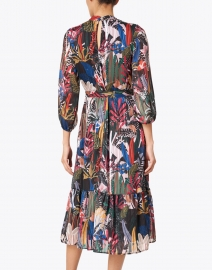 Vilagallo - Veluna Black and Multi Nature Print Dress