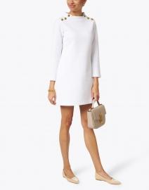 Sail to Sable - White Bubble Knit Dress