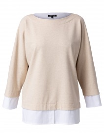 Duke Oatmeal Melange Layered Sweater
