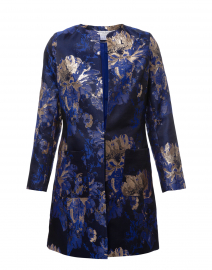 Alice Royal Blue and Gold Jacquard Jacket
