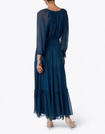 Soler - Lisa Teal Silk Tiered Belted Dress