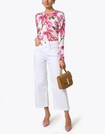 Samantha Sung - Charlotte Pink Magnolia Blossom Silk Cashmere Sweater