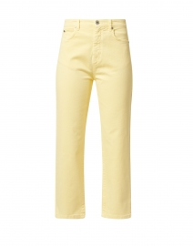 Reseda Yellow Stretch Denim Straight Leg Jeans