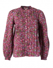 Jennifer Boysenberry Floral Printed Cotton Shirt