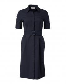 Stella Navy Stretch Cotton Shirt Dress