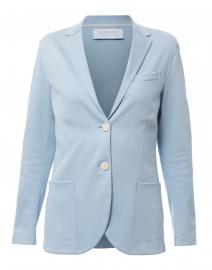 Powder Blue Stretch Viscose Blazer