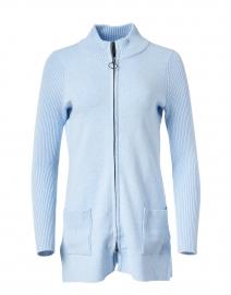 Sky Blue Knit Zip Jacket