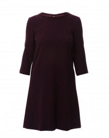 Lola Plum Wool Crepe Dress