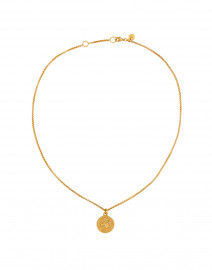 Coin Charm Gold Pendant Necklace