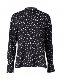 Ross Black and White Abstract Dot Printed Blouse