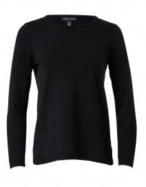 Black Cotton Cashmere Top