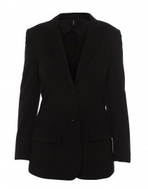Black Jersey Knit Blazer