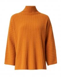 Marigold Orange Ribbed Cashmere Sweater