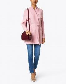 Repeat Cashmere - Gloss Pink Cotton Cardigan