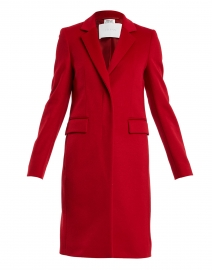 Canati Red Wool and Cashmere Collared Coat