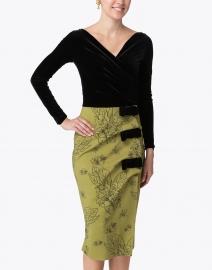 Chiara Boni La Petite Robe - Fiocca Printed Black Velvet Dress