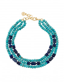 Turquoise and Lapis Beaded Necklace