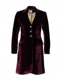 Plum Velvet Classic Coat