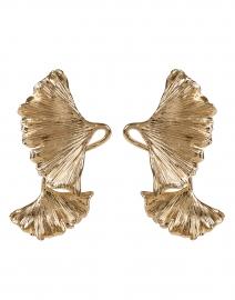 Gingko Gold Drop Earring
