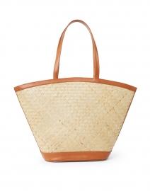 Gina Natural Woven Rattan and Leather Bag