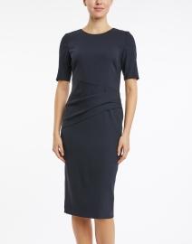 BOSS Hugo Boss - Deniba Midnight Blue Stretch Wool Dress
