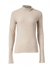 Light Beige Stretch Tencel Knit Top