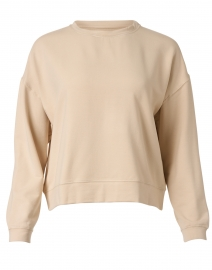 Cream French Terry Sweater