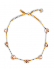Light Pink Crystal Stone Necklace