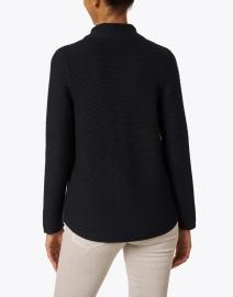 Kinross - Black Garter Stitch Cotton Cardigan