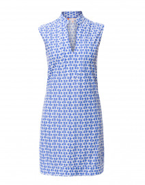 Kristen Periwinkle Link Printed Nylon Dress