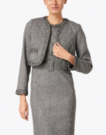 Paule Ka - Grey Stretch Wool Short Jacket
