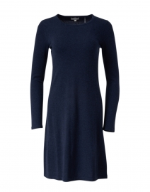Navy Cashmere Swing Dress