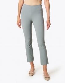 Vince - Sea Green Cotton Bi-Stretch Crop Flare Pant