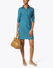 Jude Connally - Sloane Jade Circle Geo Print Shirt Dress