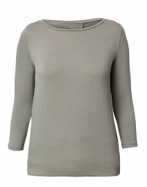 Khaki Green Stretch Viscose Top