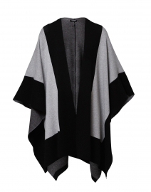 Heather Grey and Black Poncho