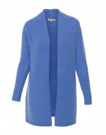 Sophie French Blue Cable Knit Cashmere Cardigan