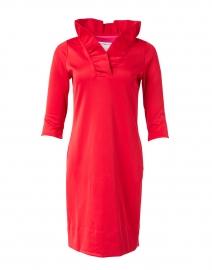 Red Ruffle Neck Dress