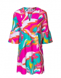 Jude Connally - Kerry Pink and Green Floral Printed Dress