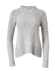 Grey Cable Cashmere Sweater