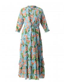Brenda Blue and Orange Floral Cotton Dress