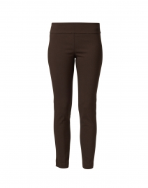 Chestnut Brown Control Stretch Pull On Ankle Pant