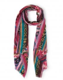 Multicolored Tapestry Print Silk Cashmere Scarf