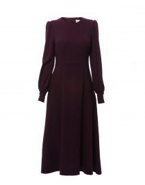 Idaho Plum Wool Crepe Dress
