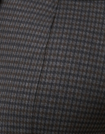 Elliott Lauren - Blue and Brown Check Stretch Pull On Pant