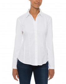 Hinson Wu - Jamie White Stretch Cotton and Jersey Knit Shirt