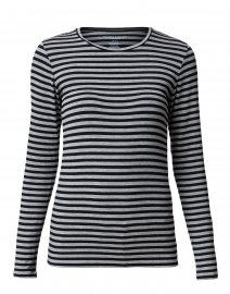Grey and Black Striped Tee