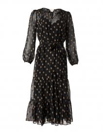 Benson Black and Gold Dot Dress